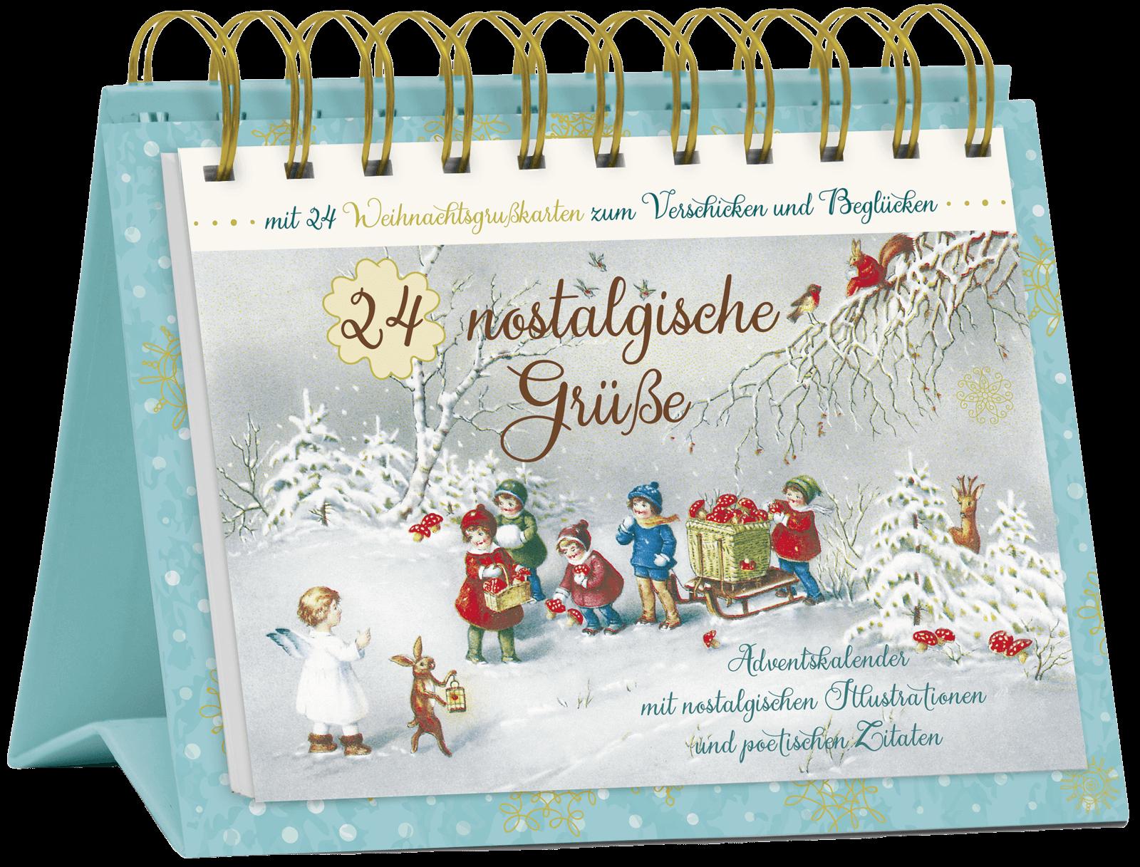 """Tisch-Adventskalender """"24 nostalgische Grüße"""", Art. 15568"""